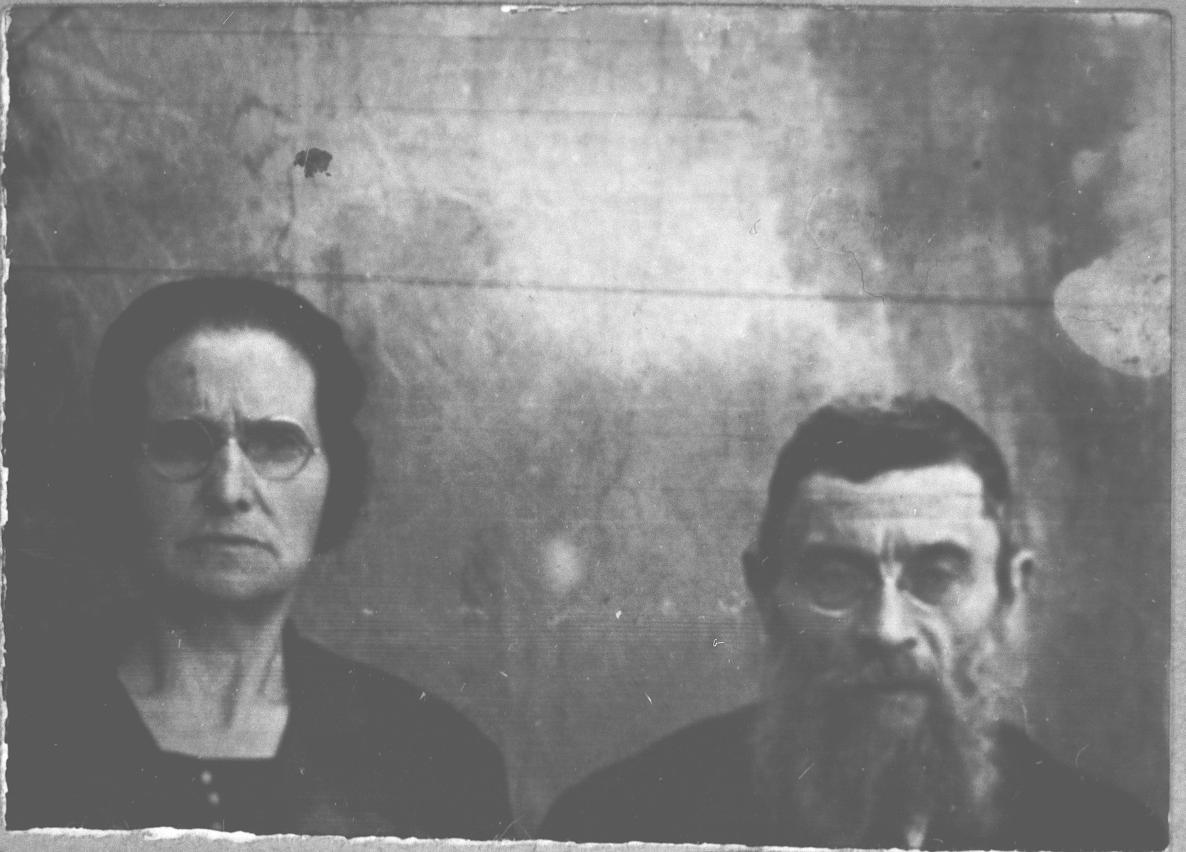 Portrait of Rachamin Israel and his wife, Ana.  He was a clergyman.  They lived at Dr. Raisa 143 in Bitola.