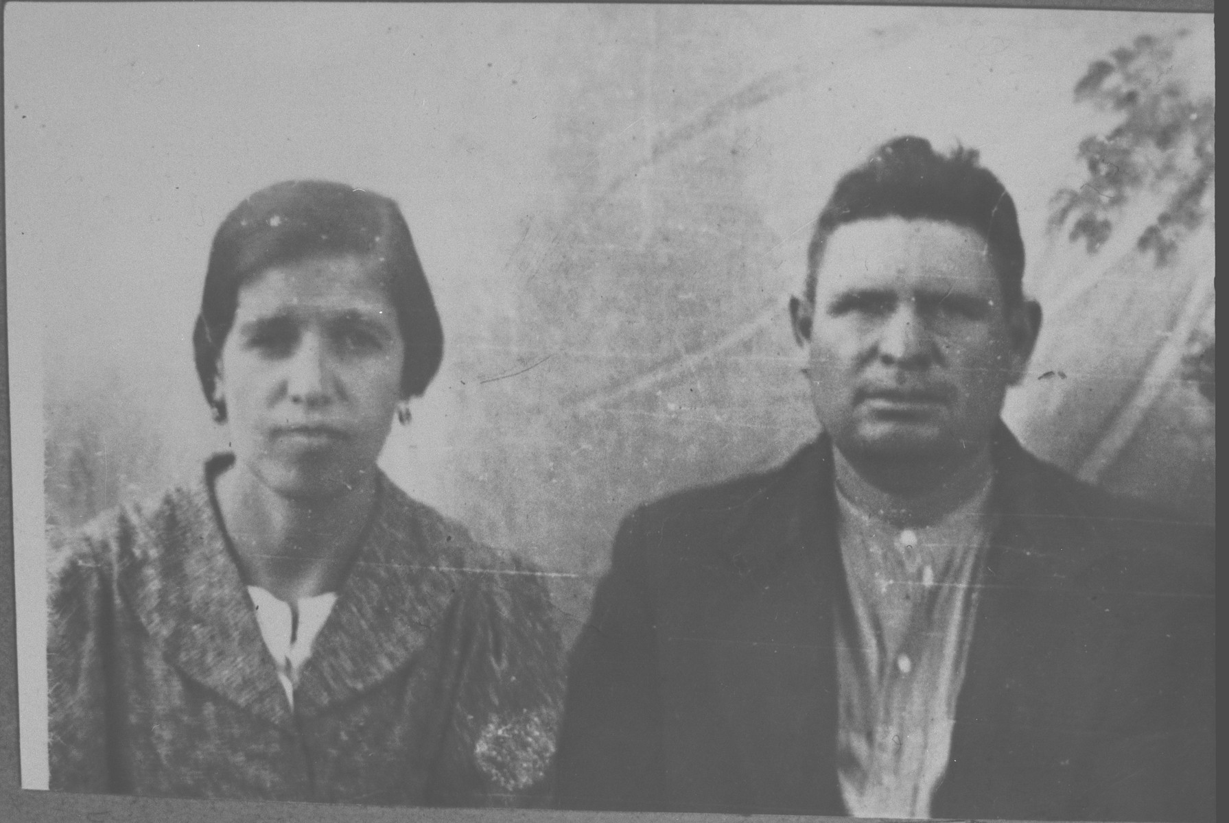 Portrait of Natan Ischach and his wife, Hana.  He was a fruit delaer.  They lived at Karagoryeva 75 in Bitola.