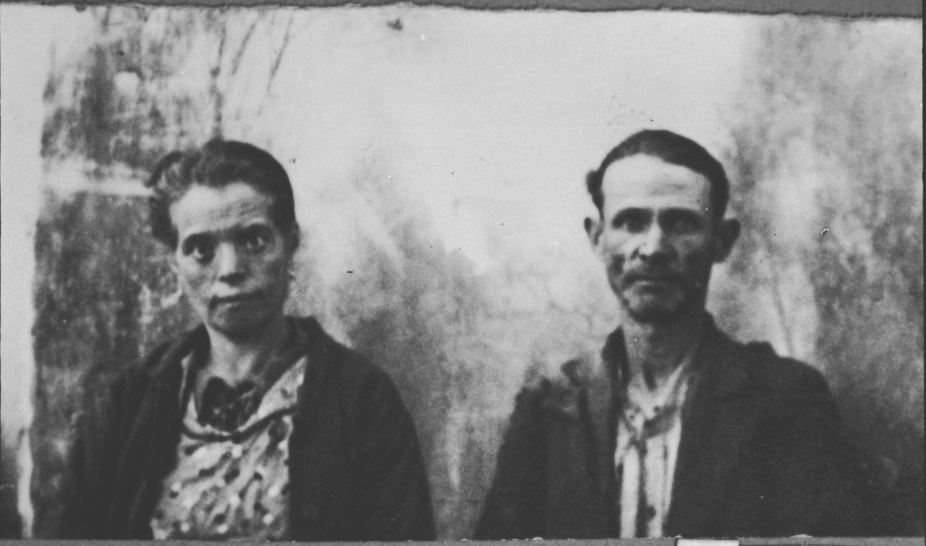 Portrait of unidentified man and woman.