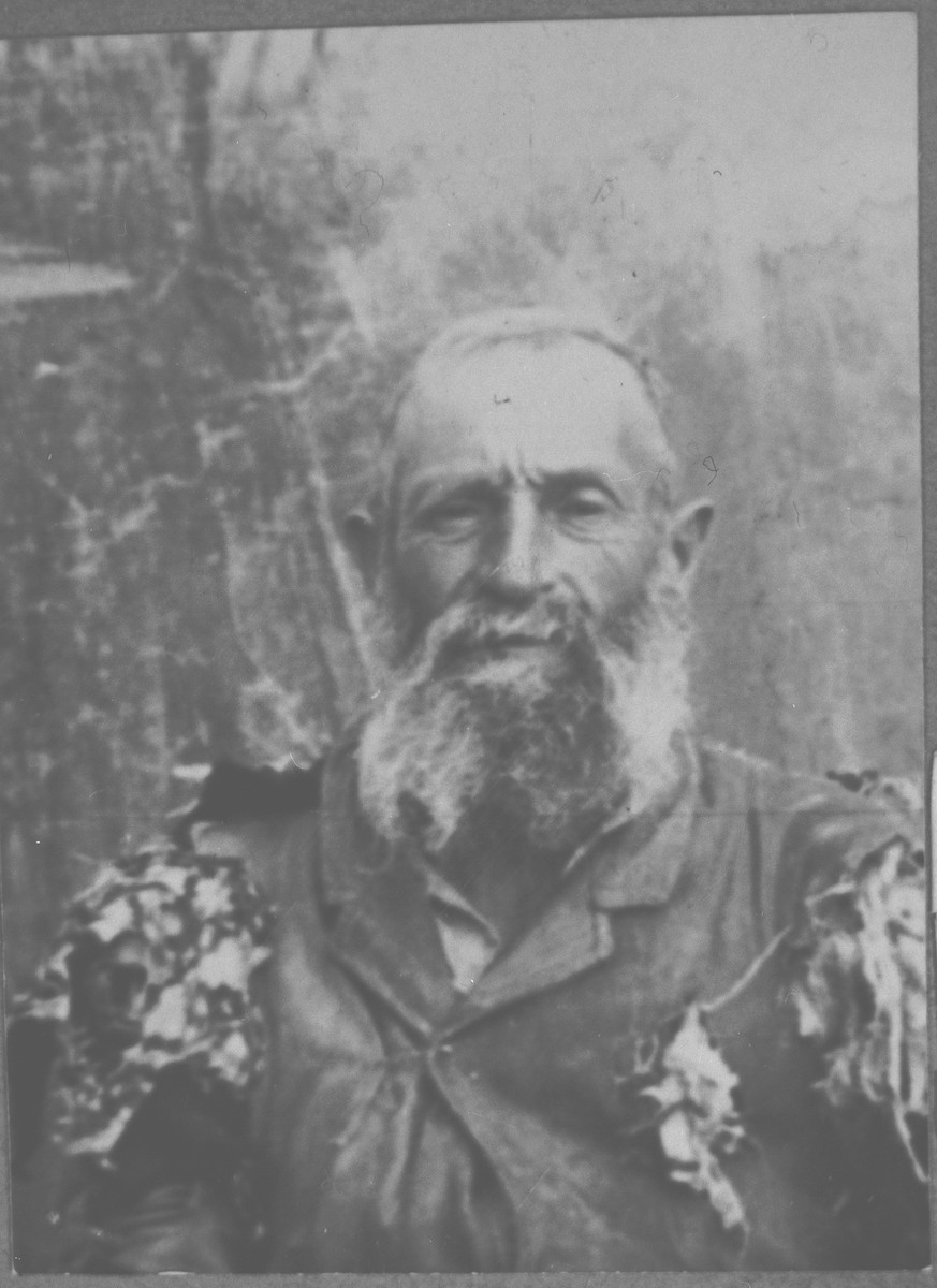 Portrait of Sava Ischach.  He was a butcher.  He lived at Avramova 60 in Bitola.