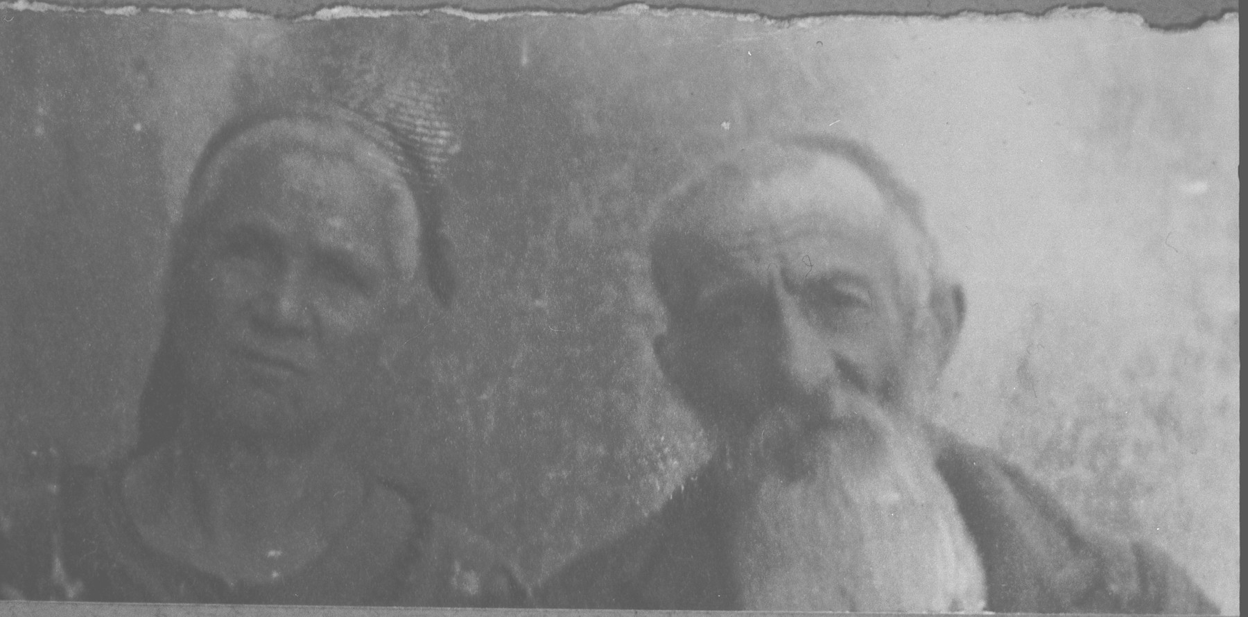 Portrait of Peris Ischach and his wife, Lia.  He was a fruit dealer.  They lived at Novatska 2 in Bitola.