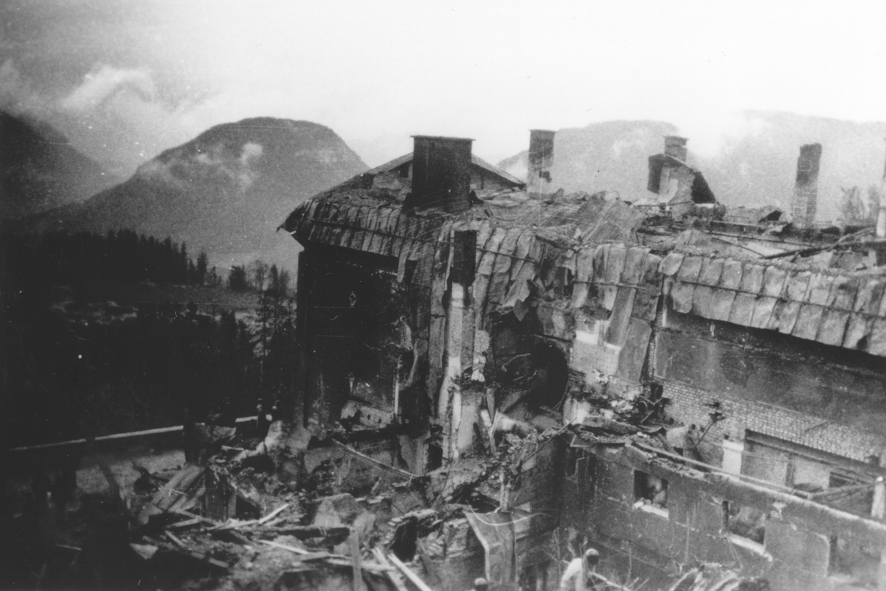 The ruins of the Berghof, Hitler's mountain retreat in the Bavarian Alps.