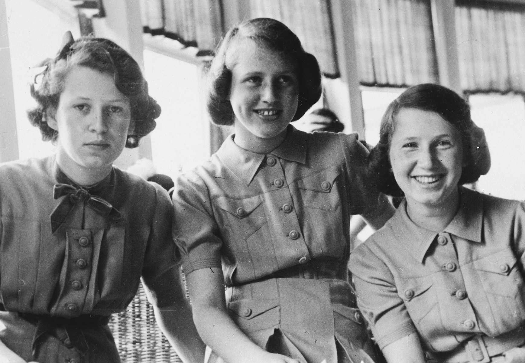 Portrait of the three Hertz sisters.  Pictured are Hella, Polly and Dolly Hertz.