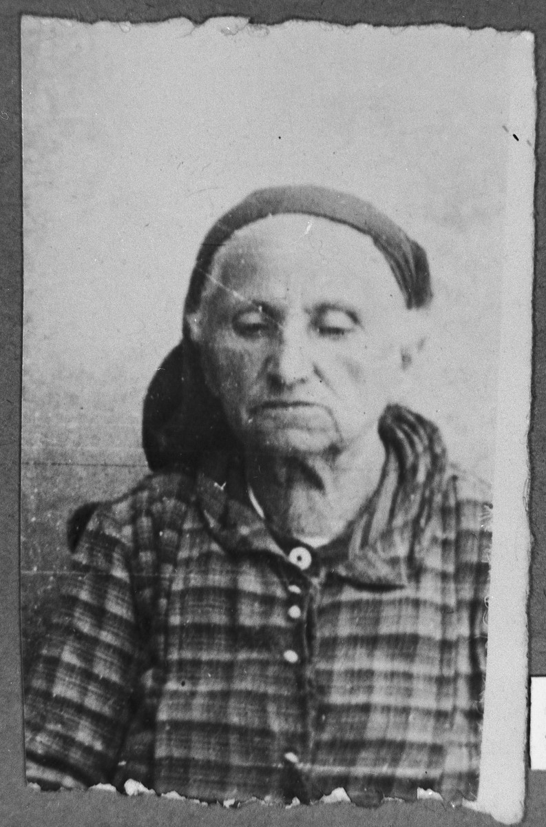 Portrait of Rahel Albaranes.  She lived at Kossantchitcheva 18 in Bitola.