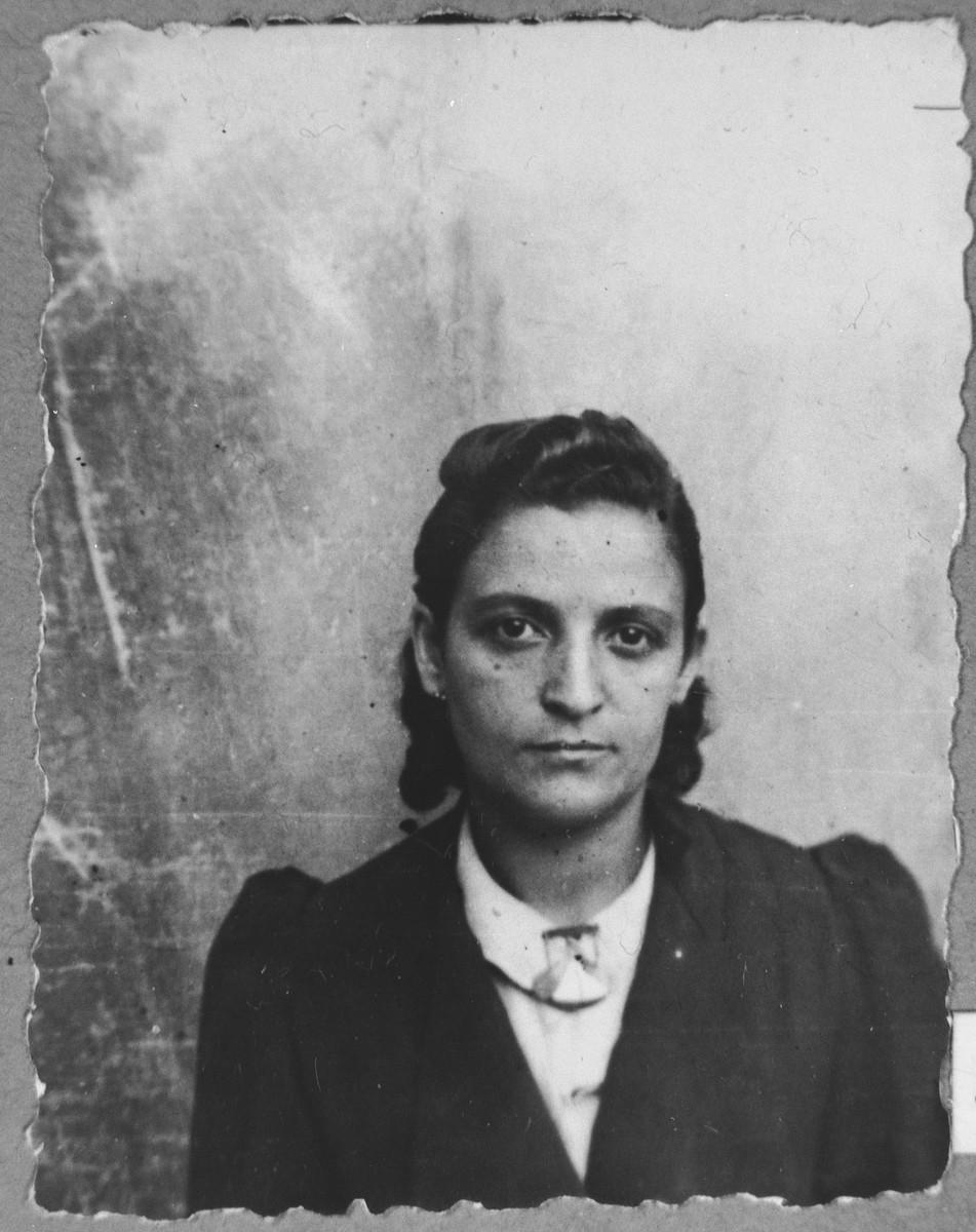 Portrait of Marie Alba, wife of Samuel Alba.