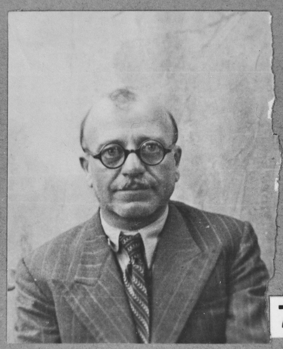 Portrait of Yosef Anaf.  He lived at Gen. Boyevika 24 in Bitola.