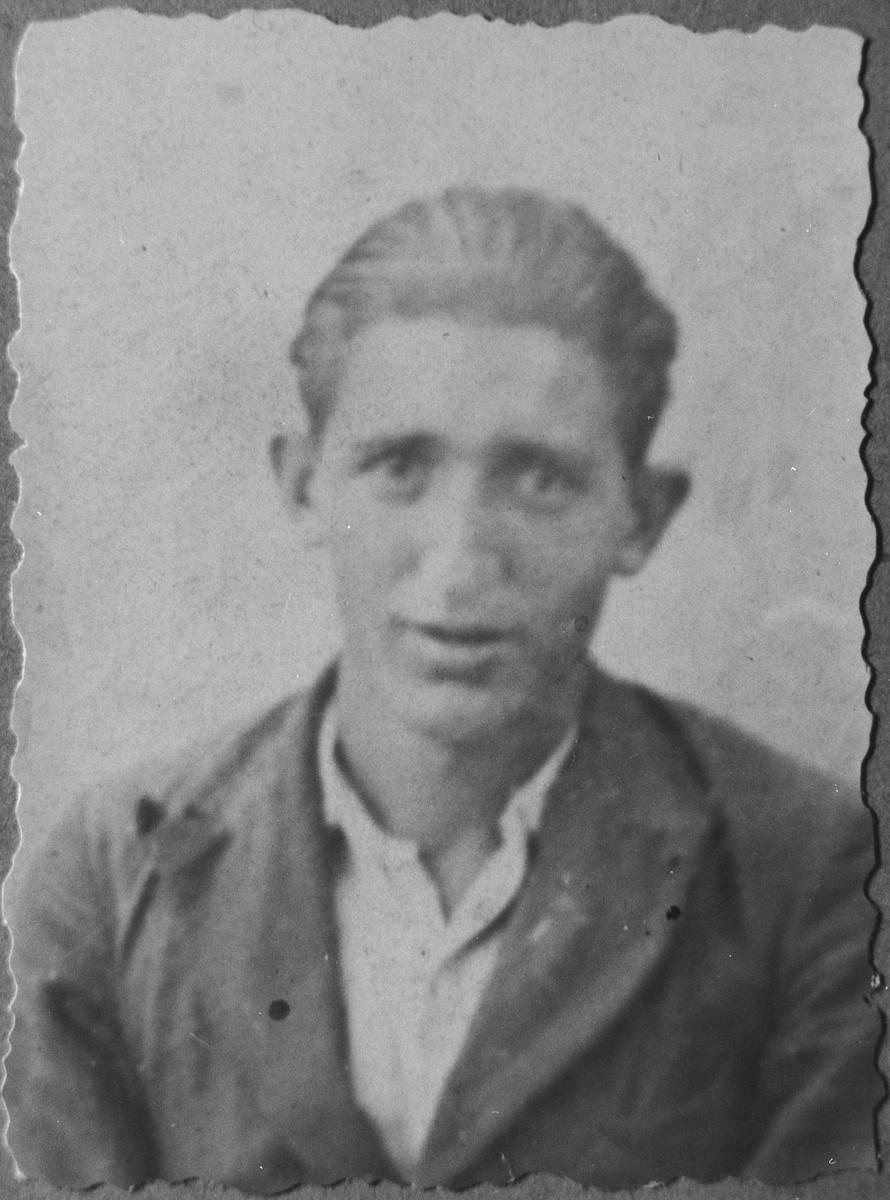 Portrait of Avram Aleshandra, son of David Aleshandra.  He was a rag dealer.  He lived on Putnika in Bitola.