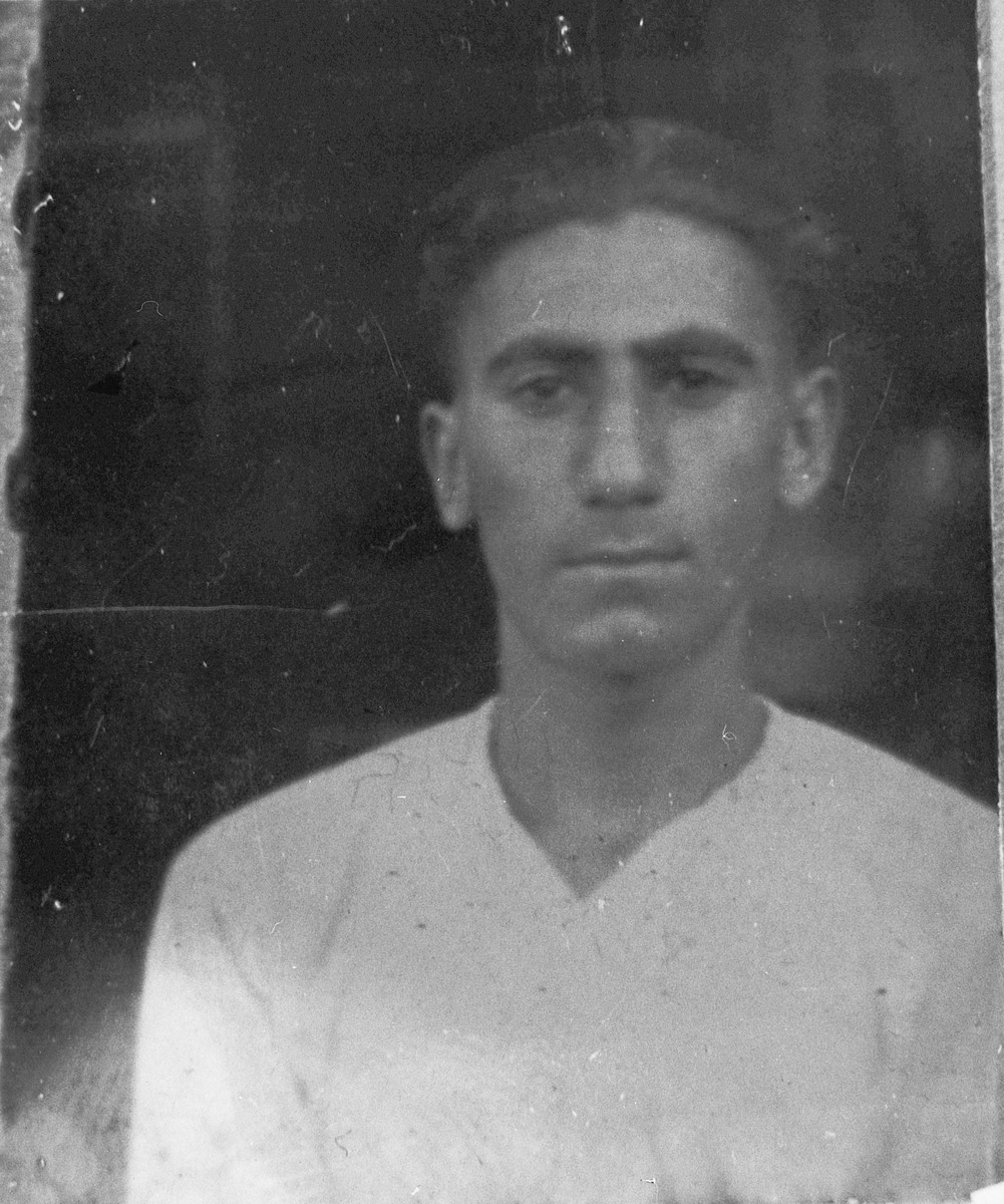 Portrait of Moshe Aroesti.