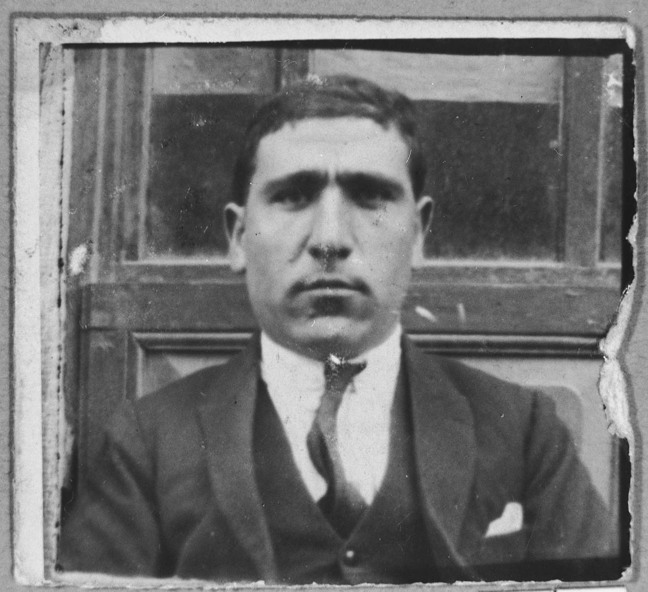 Portrait of Avram Aleshandra.  He lived at Belika Avliya 3 in Bitola.