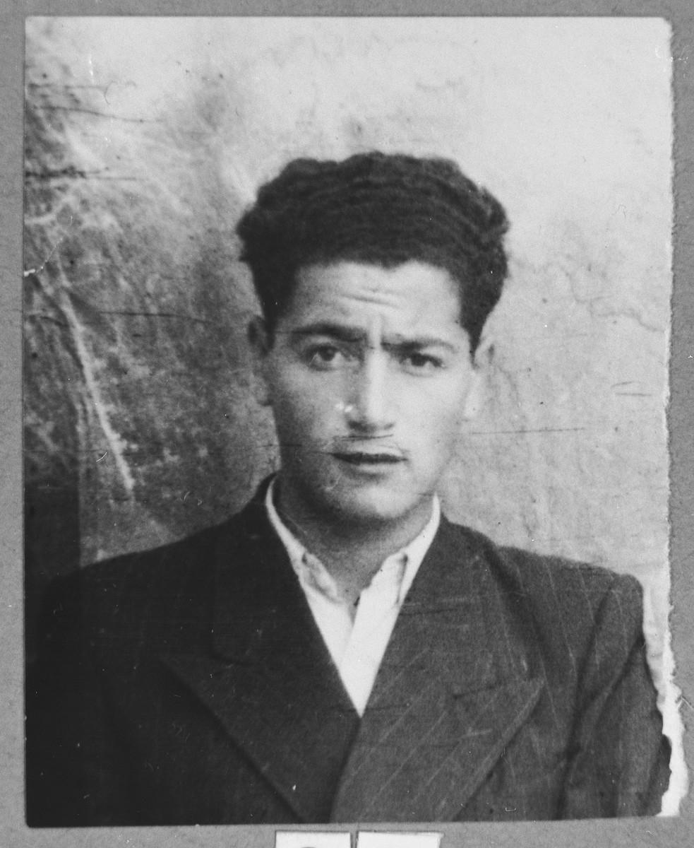 Portrait of Isak Albocher, son of Yuda Albocher.  He was a student.  He lived at Sremska 13 in Bitola.