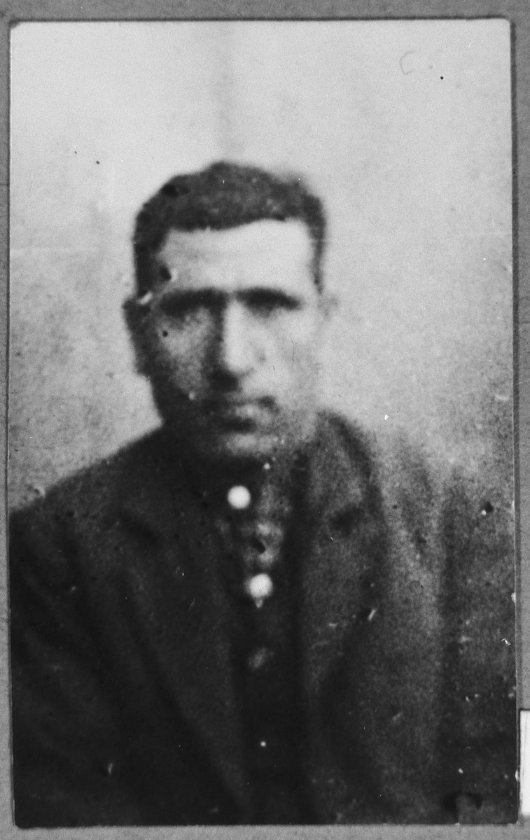 Portrait of Avram Aleshandra.  He was a rag dealer.  He lived at Belika Avliya 3 in Bitola.