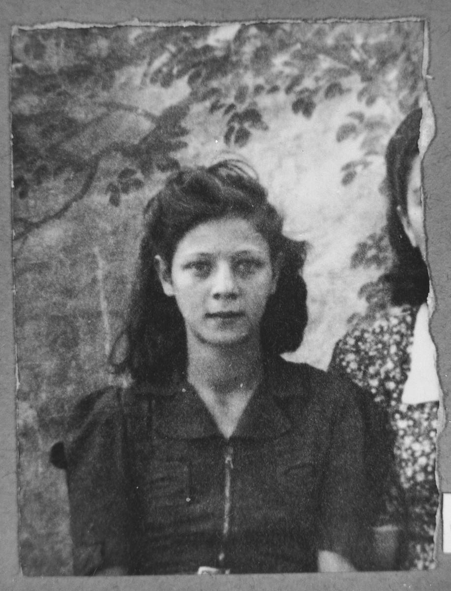 Portrait of Ester Albocher, daughter of Rufel Albocher.  She was a student.  She lived on Karagoryeva in Bitola.