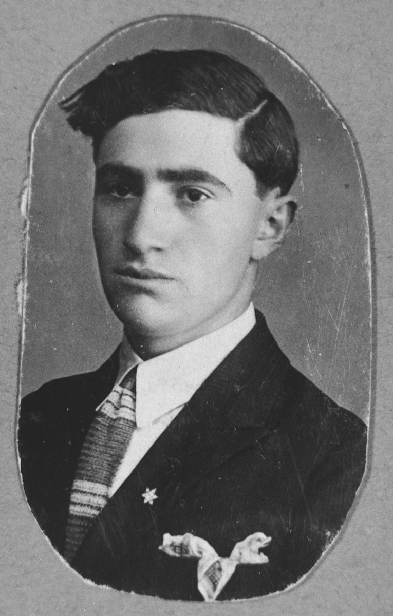 Portrait of Yosef Aroesti.  He lived at Asadbegova 8 in Bitola.