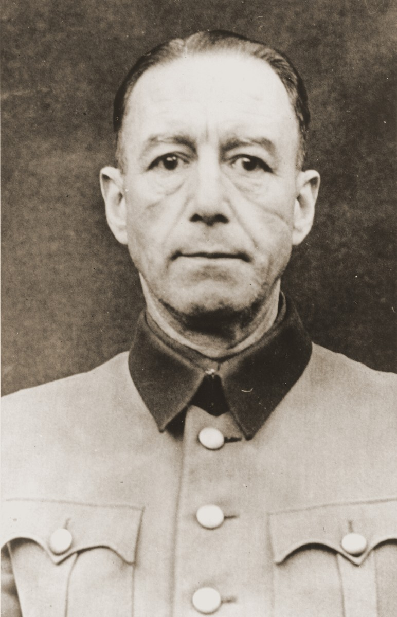 Portrait of Siegfried Handloser as a defendant in the Medical Case Trial at Nuremberg.