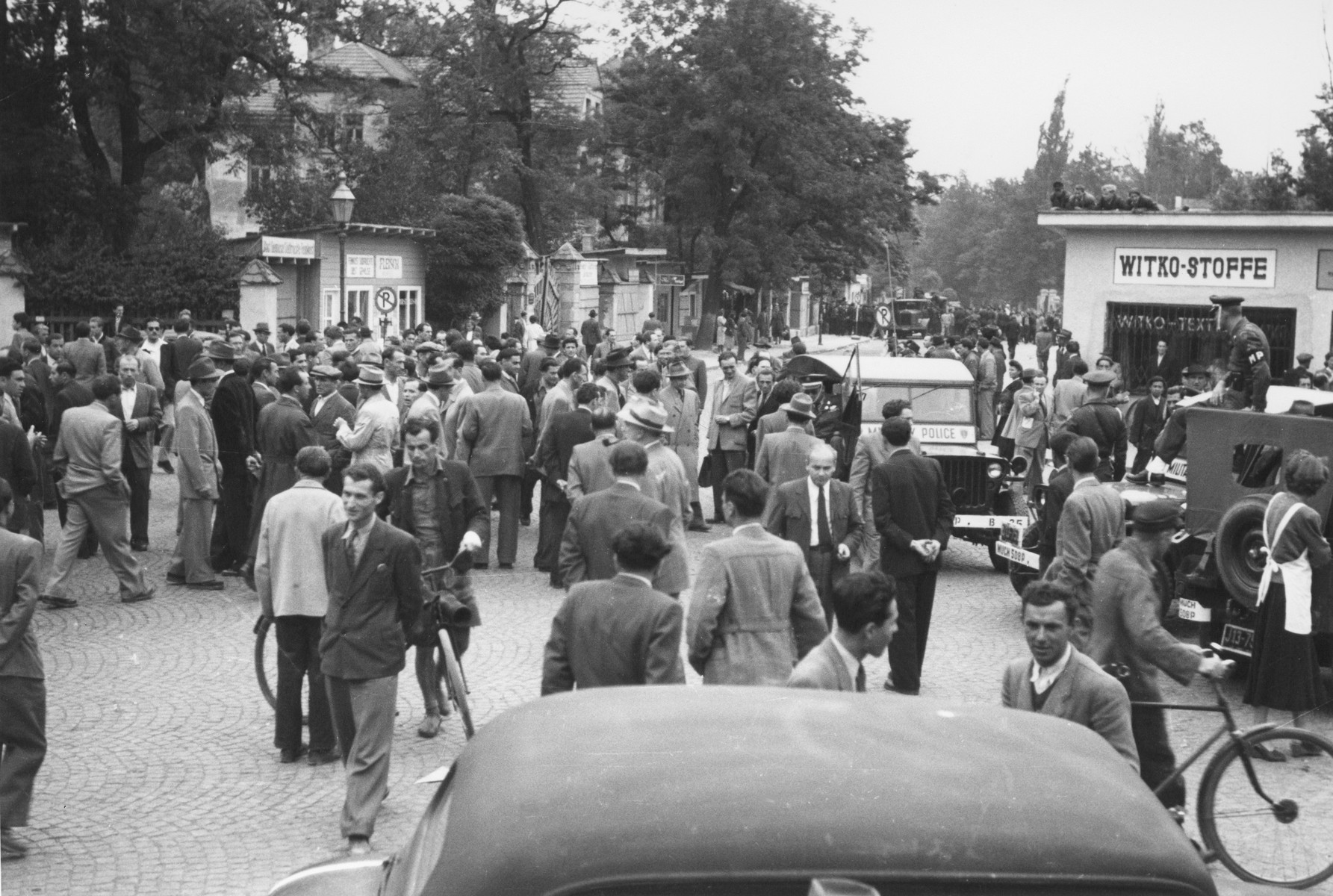 Over 1000 Jews demonstrate against an anti-Semitic outbreak of violence in Munich.    Fighting broke out after German police tried to stop the demonstration.  The situation calmed down only after the intervention of American soldiers.