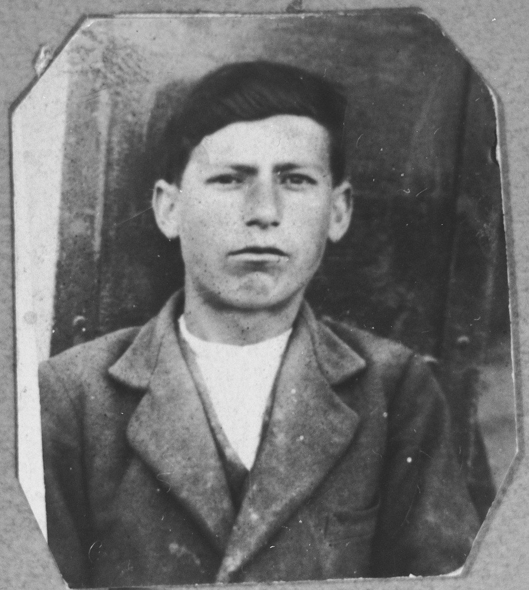 Portrait of Avram Hasson, son of Isak Hasson.  He was a miller.  He lived at Dalmatinska 49 in Bitola.
