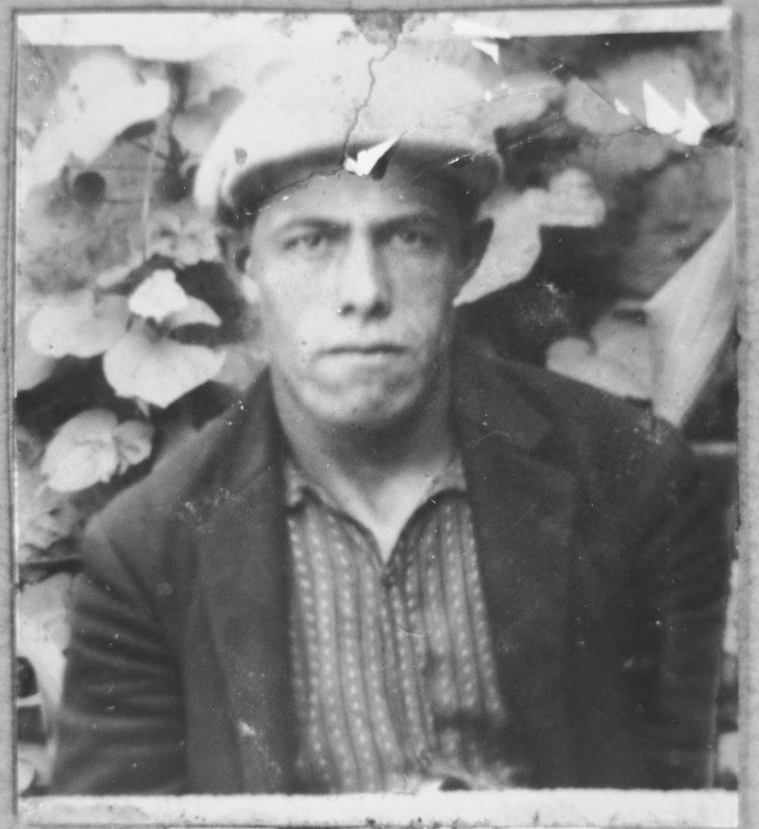Portrait of Rafael (Y.) Hasson.  He was a carpenter.  He lived at Drinska 119 in Bitola.
