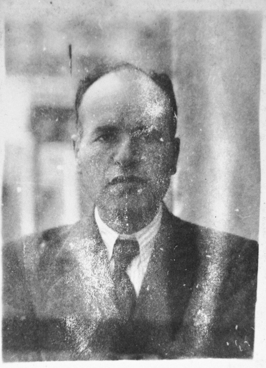 Portrait of Mois Shami, son of Shabetai Shami.  He was a manufacturer.  He lived at Dr. Raisa 138 in Bitola.