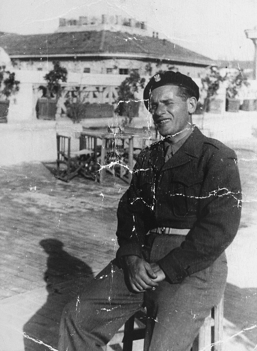 Portrait of Jack Roth, a Jewish soldier in the Anders Army, in Como, Italy during the Allied invasion.