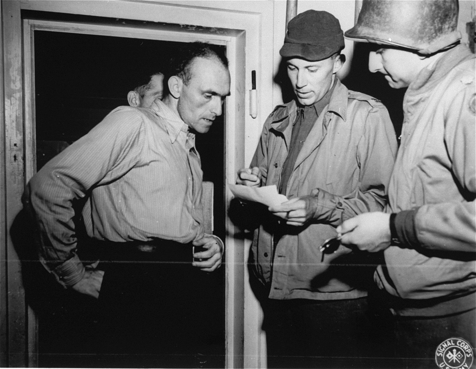 Lt. Taylor and Major Cohen (donor) trace down the identity of some American pilots who were killed and cremated in Mauthausen.