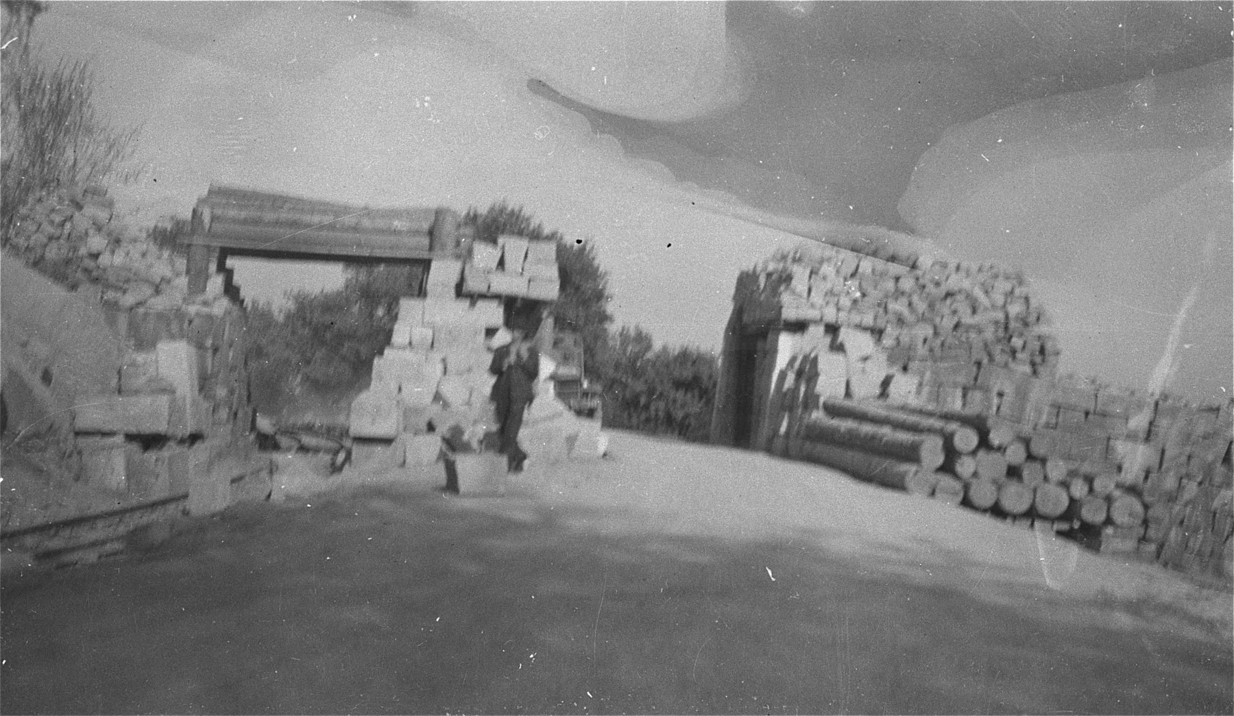 Storage area for quarried stones above the Wiener Graben quarry in the Mauthausen concentration camp.