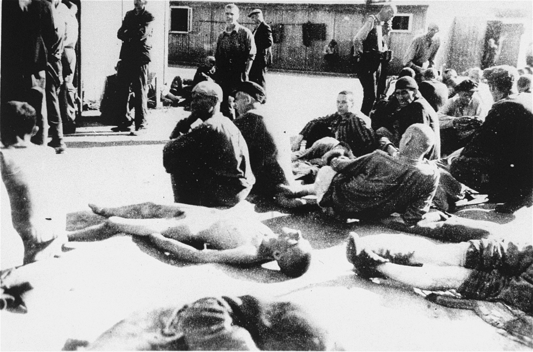 Survivors in Mauthausen after liberation.