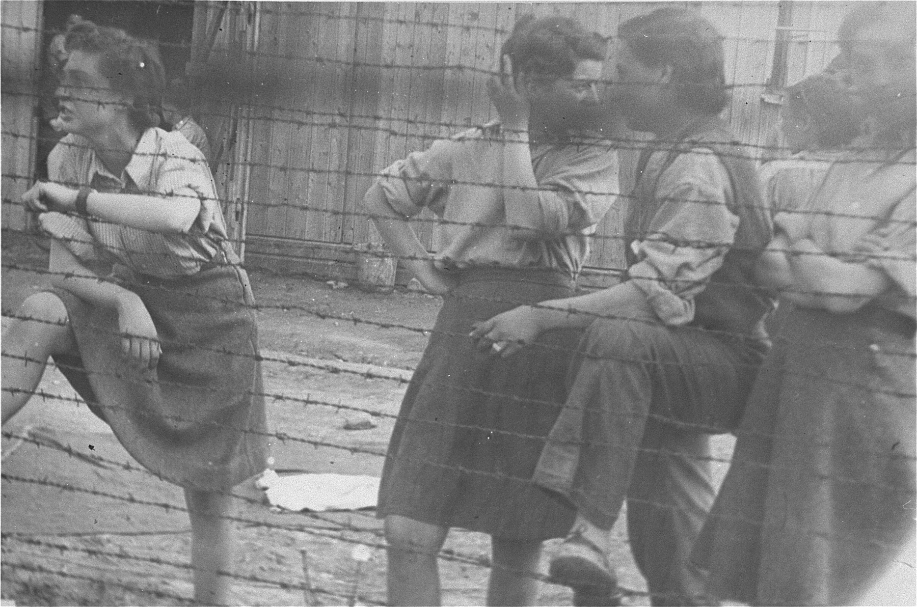 Survivors in the Mauthausen concentration camp.