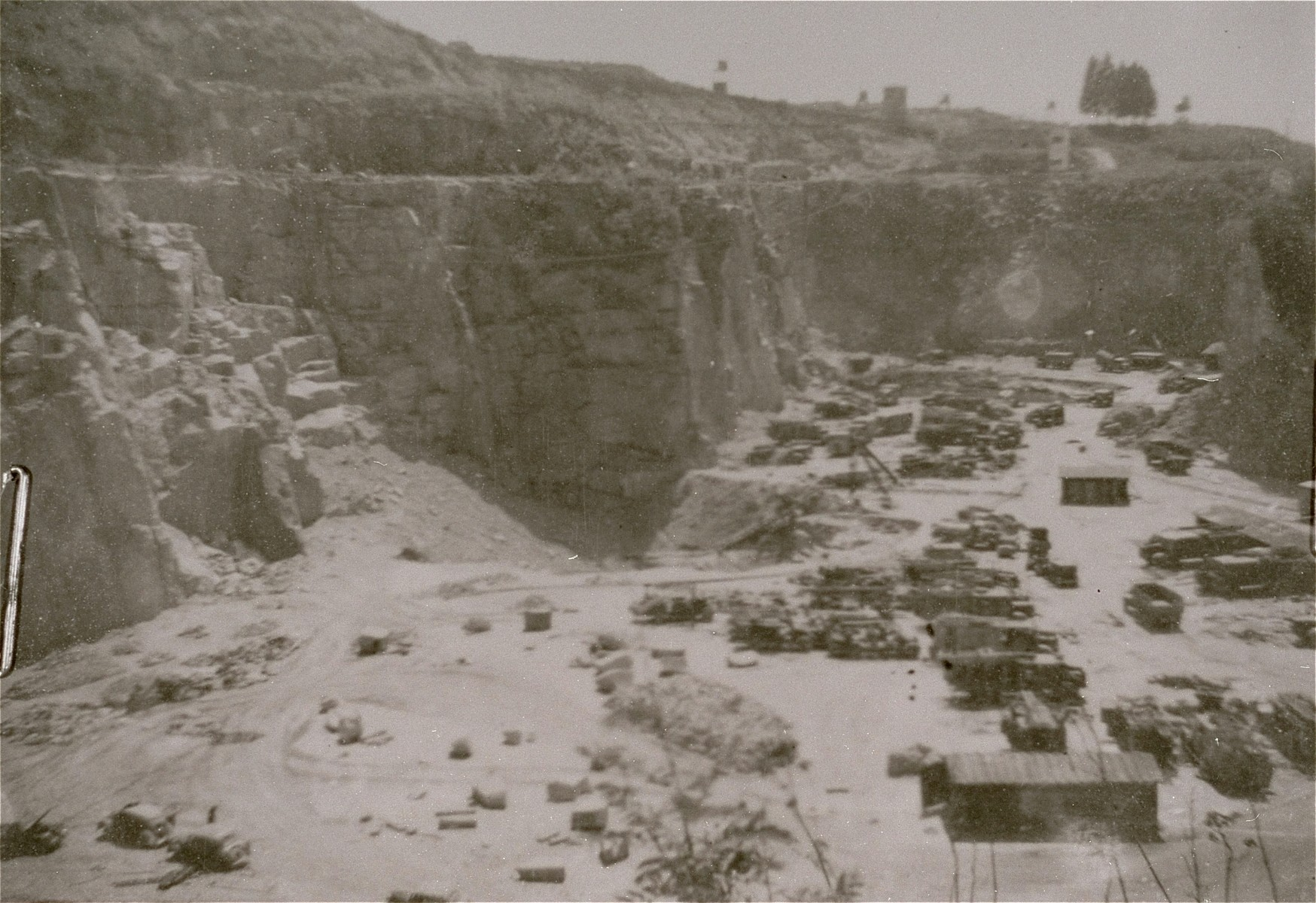 View of the Wiener Graben quarry at the Mauthausen concentration camp.