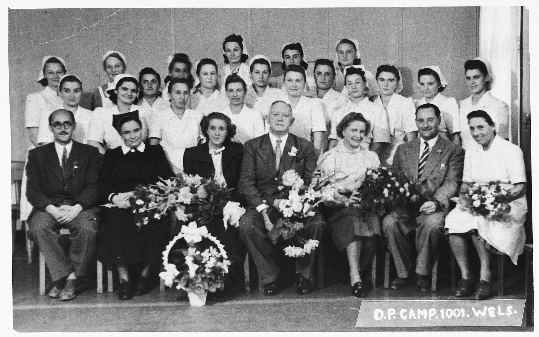 Graduation exercises of the nursing school in Wels.  Those pictured include Yehudit Wagner.