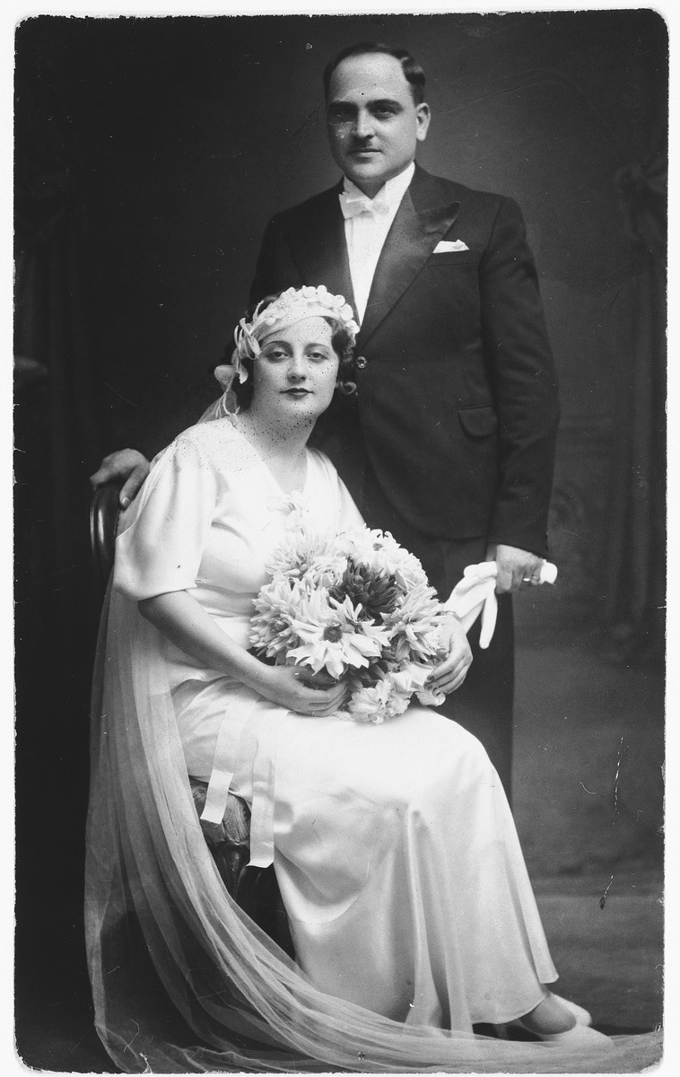 Wedding portrait of Moise and Marie Torres.