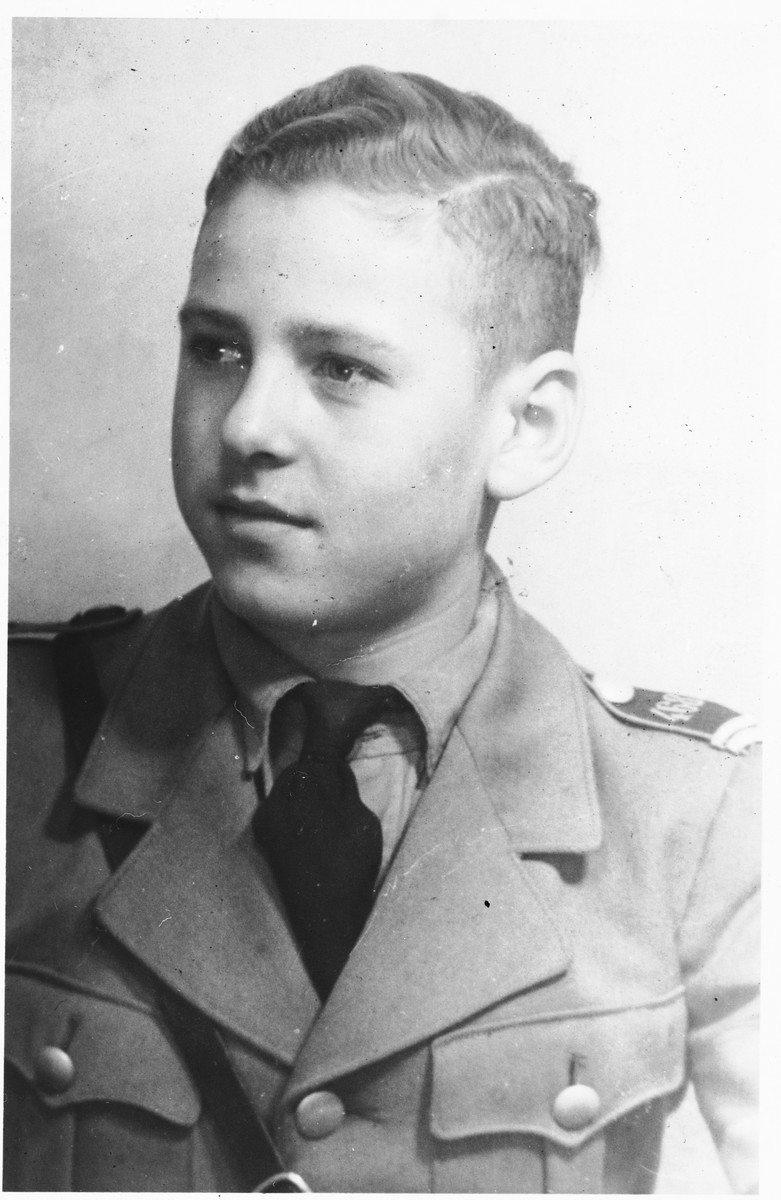 Portrait of Gerhard Rieche, a member of the Hitler Youth from Peine, who shared a room with Solly Perel while he living in hiding in the Hitler Youth academy in Braunschweig.