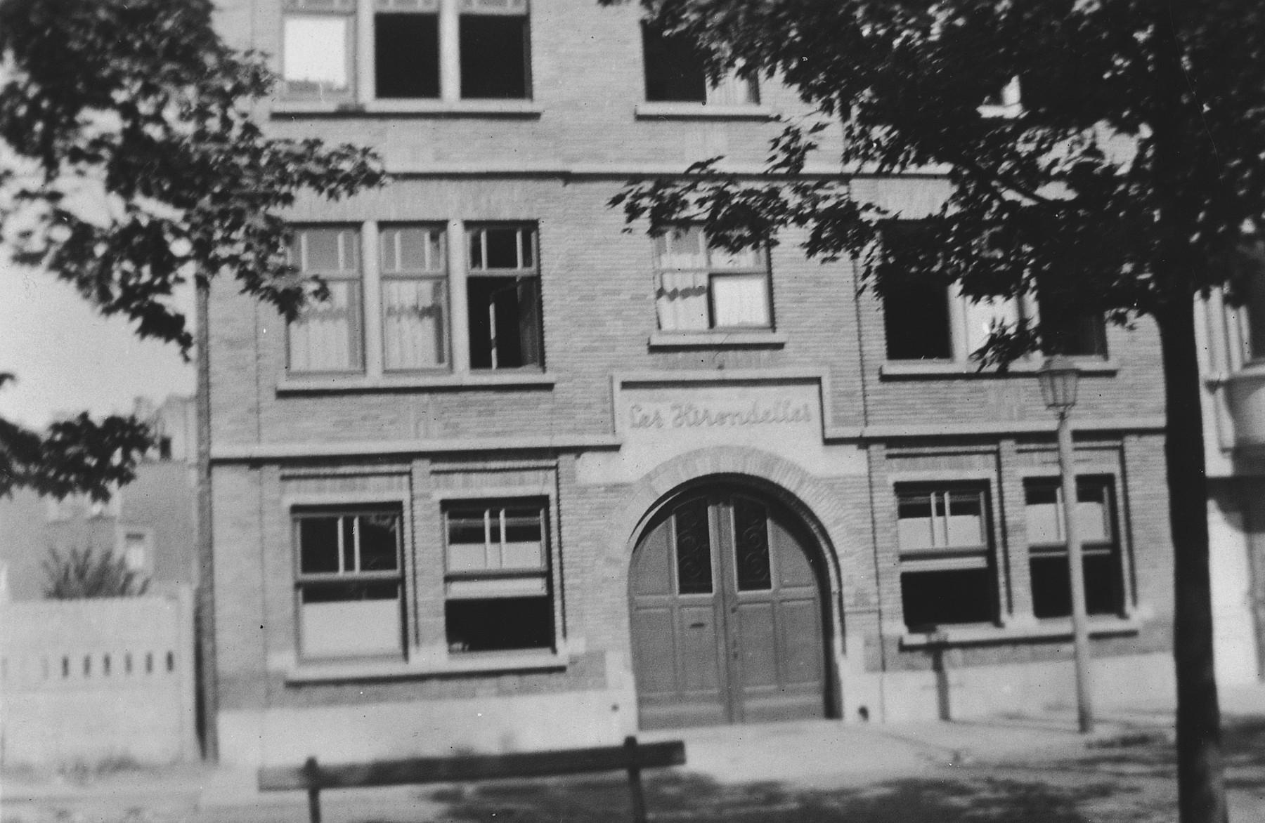 Exterior view of Le Home des Hirondelles, a Belgium children's home in Anderlecht.