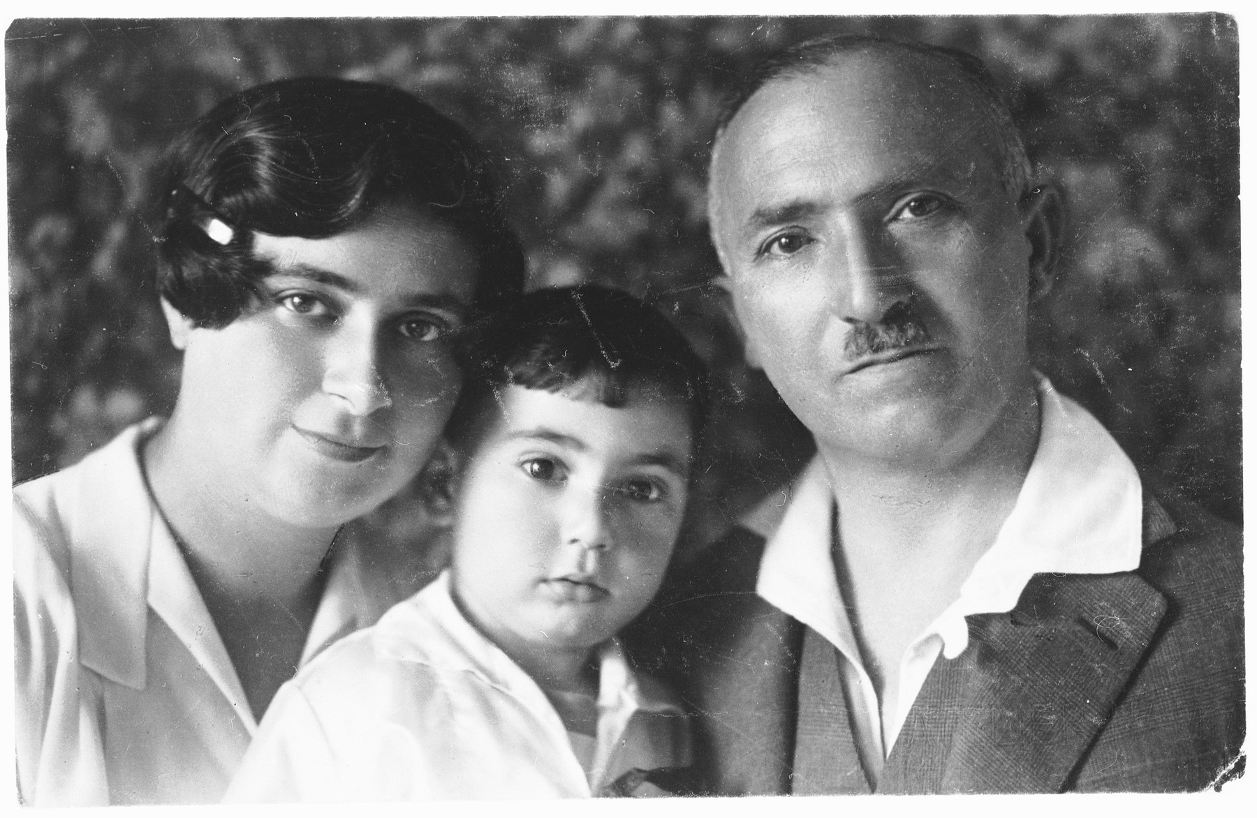 Group portrait of a Viennese Jewish family.   Pictured are Jolan, Heinrich and Emil Wellisch.