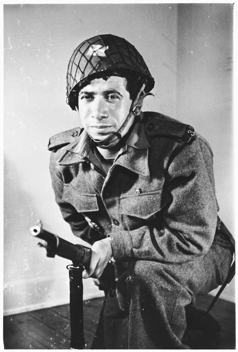 Portrait of Bernhard Diament in the uniform of the Danish Brigade.