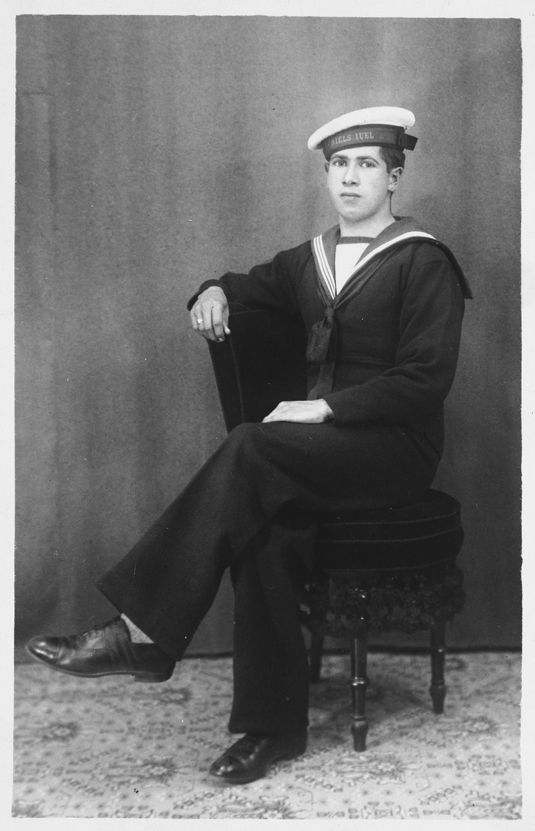 Portrait of Bernhard Diament in the uniform of the Danish Navy.