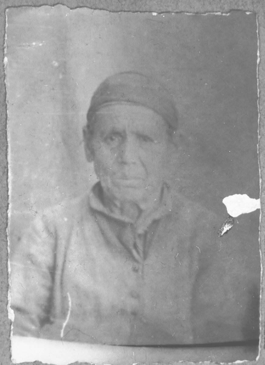 Portrait of Lea Kamchi, wife of Yosef Kamchi, and mother of Avram Kamchi.