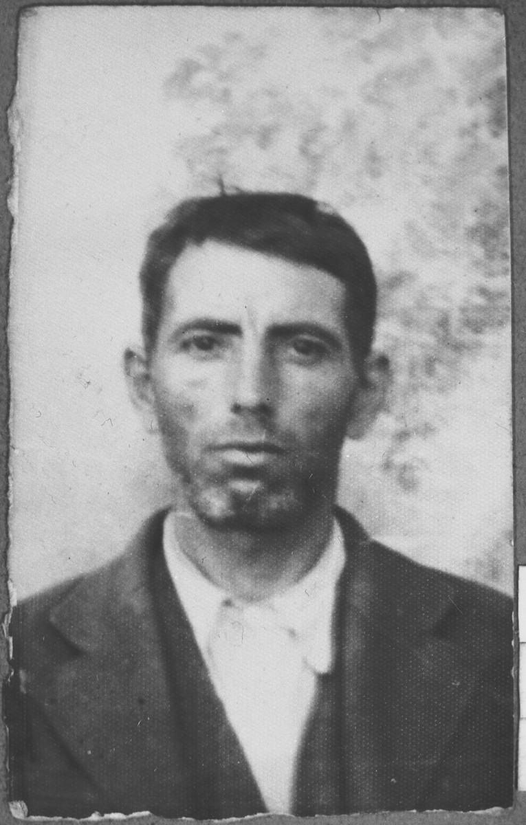 Portrait of Avram Kamchi.  He lived at Skopyanska 68 in Bitola.