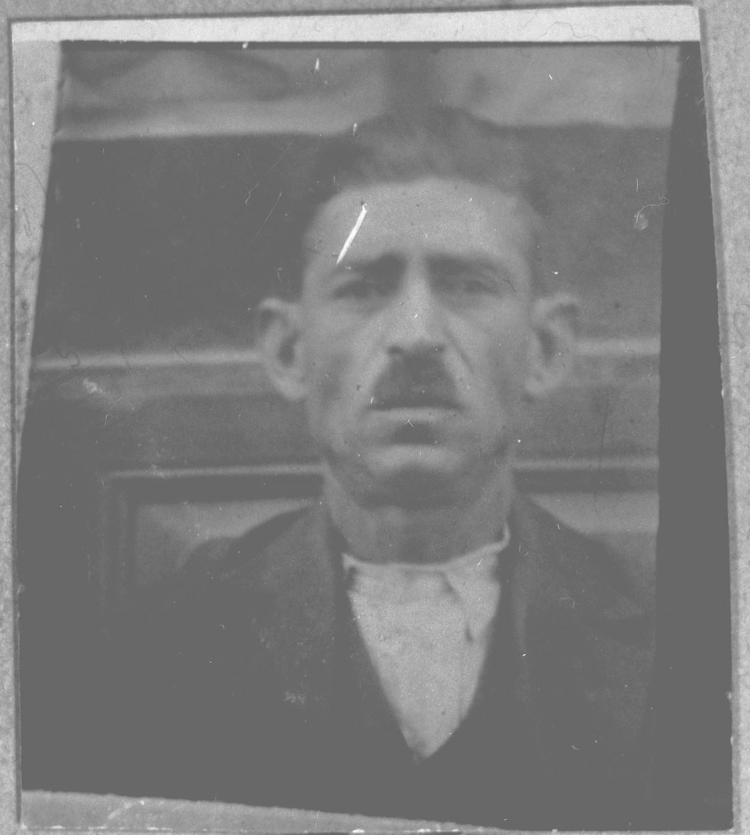 Portrait of Yakov Kamchi.  He lived at Krstitsa 19 in Bitola.