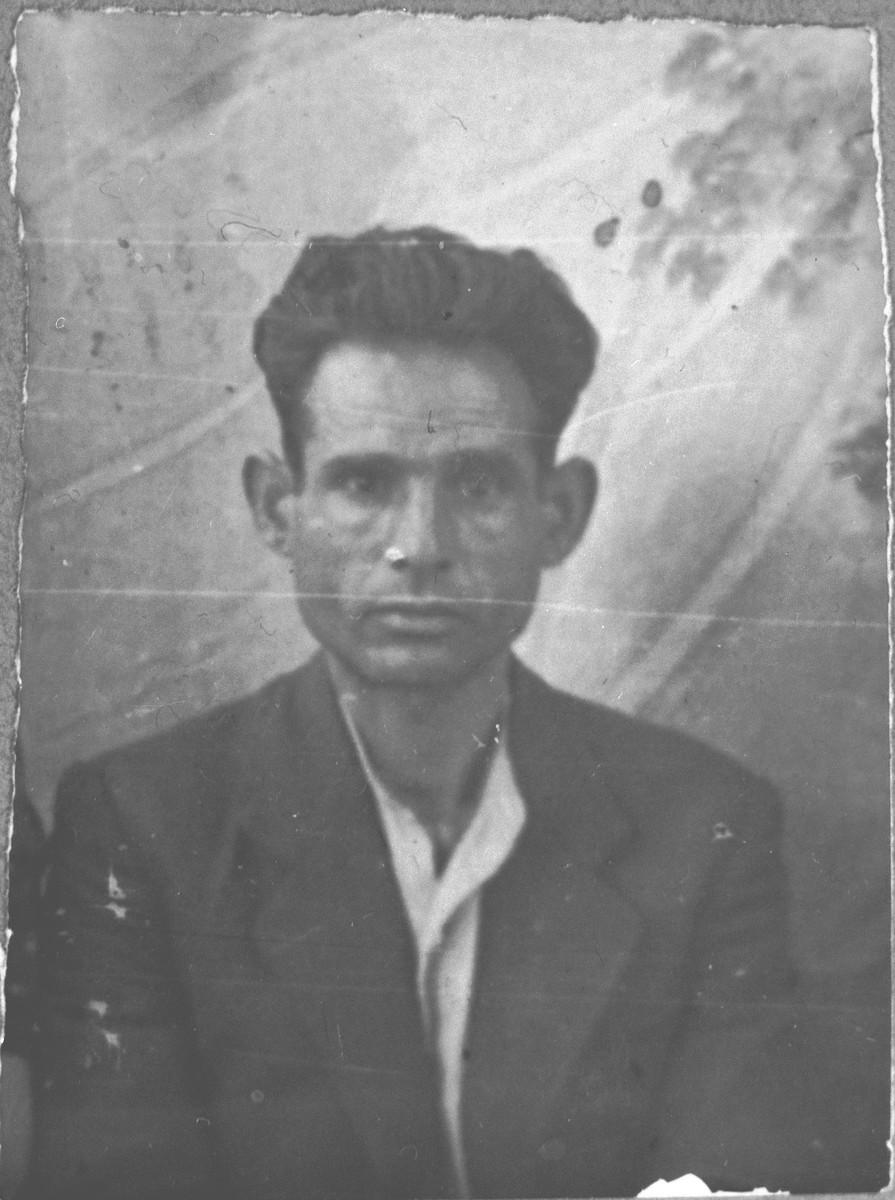 Portrait of Yakov Kamchi, son of Sava Kamchi.  He lived at Drinska 97 in Bitola.