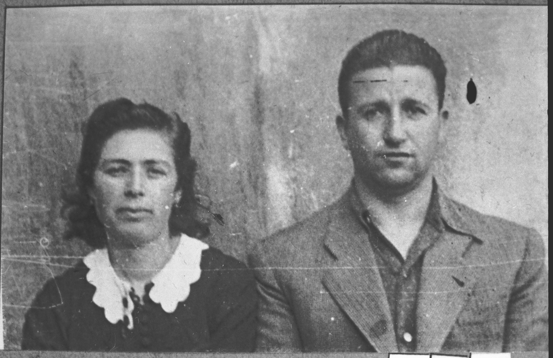 Portrait of Rafael Kalderon and his wife, Sara.  He was a miller.  They lived at Yakushtseva 29 in Bitola.