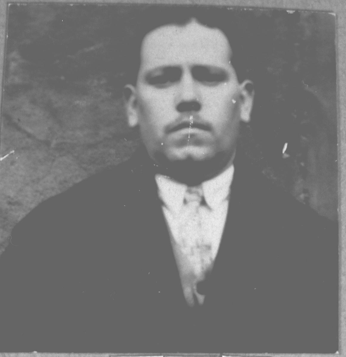 Portrait of Bohor Kamchi.  He lived at Gostivarska 1 in Bitola.