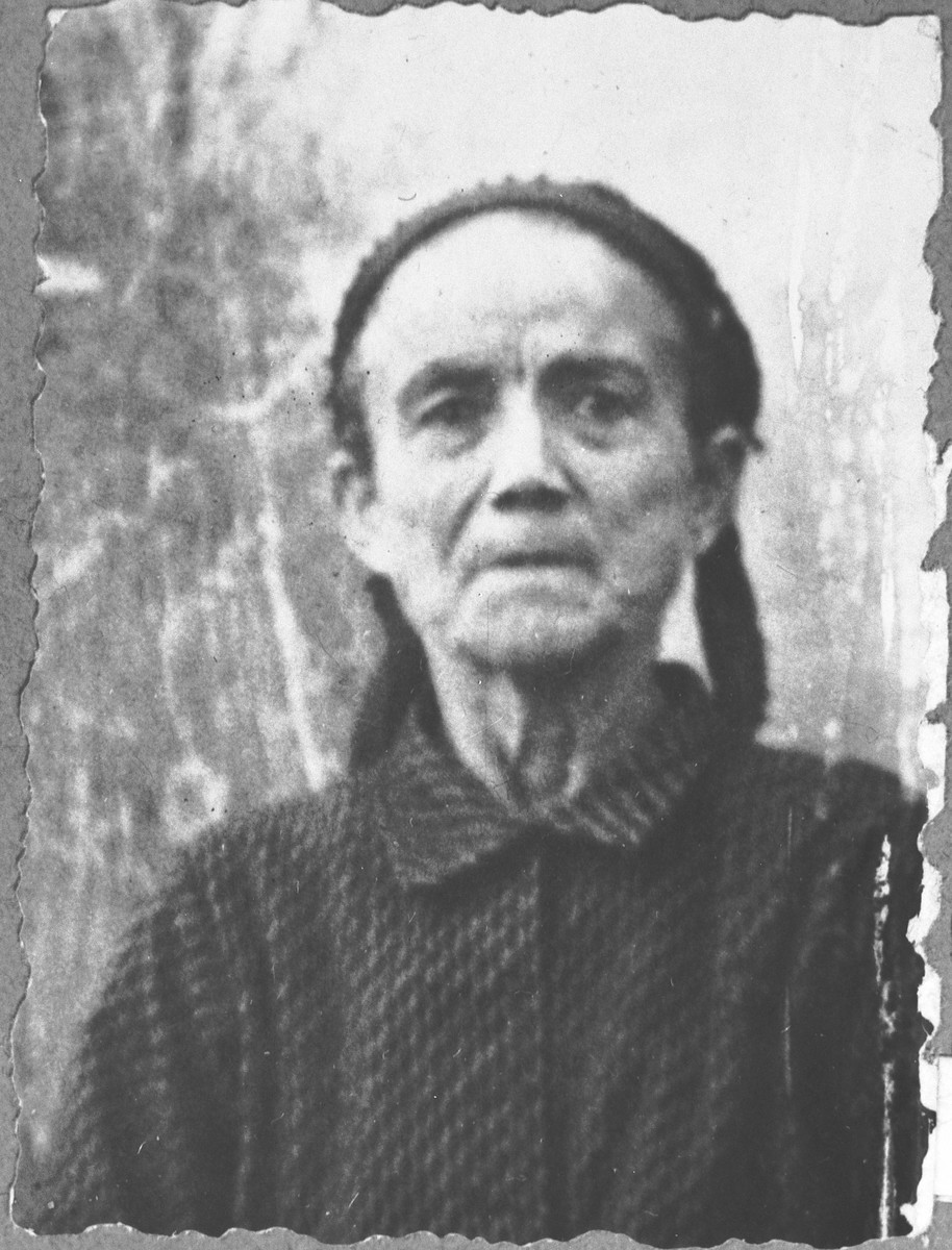 Portrait of Sol Kamchi.  She lived at Dalmatinska 57 in Bitola.