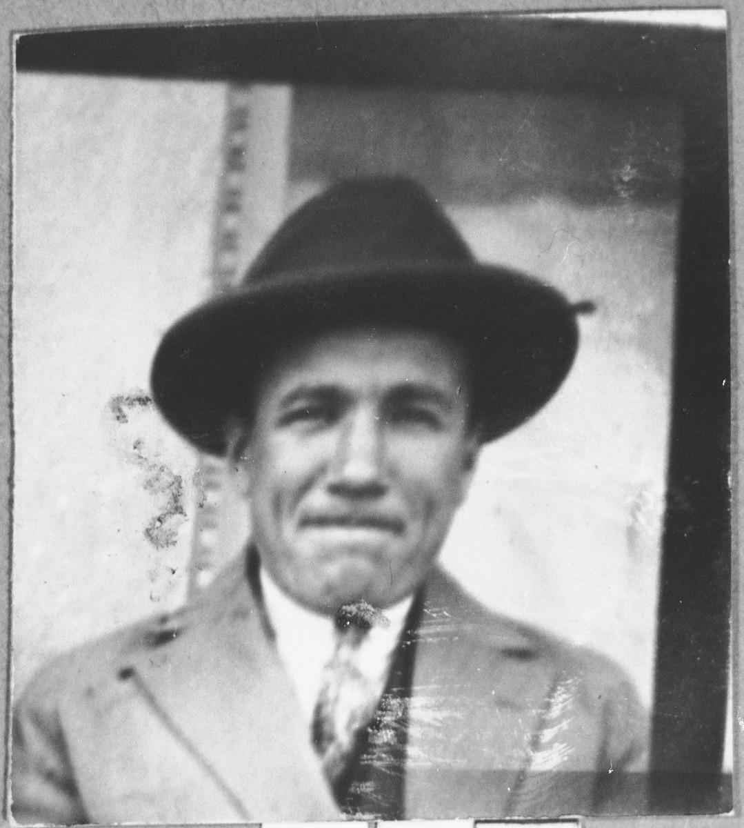 Portrait of Nissim Kalderon.  He was a grain dealer.  He lived on Asadbegova in Bitola.