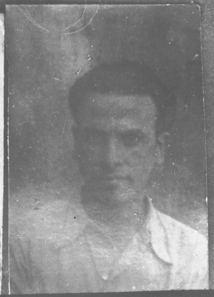 Portrait of Samuel Kamchi, son of Bohor Kamchi.  He lived at Drinska 79 in Bitola.