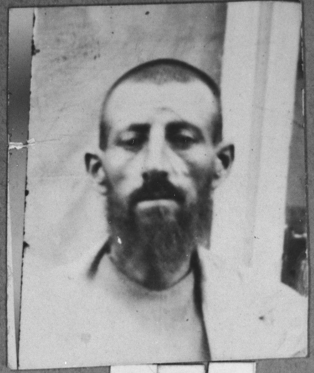 Portrait of Peris Kalderon.  He was a flour dealer.  He lived at Karagoryeva 69 in Bitola.