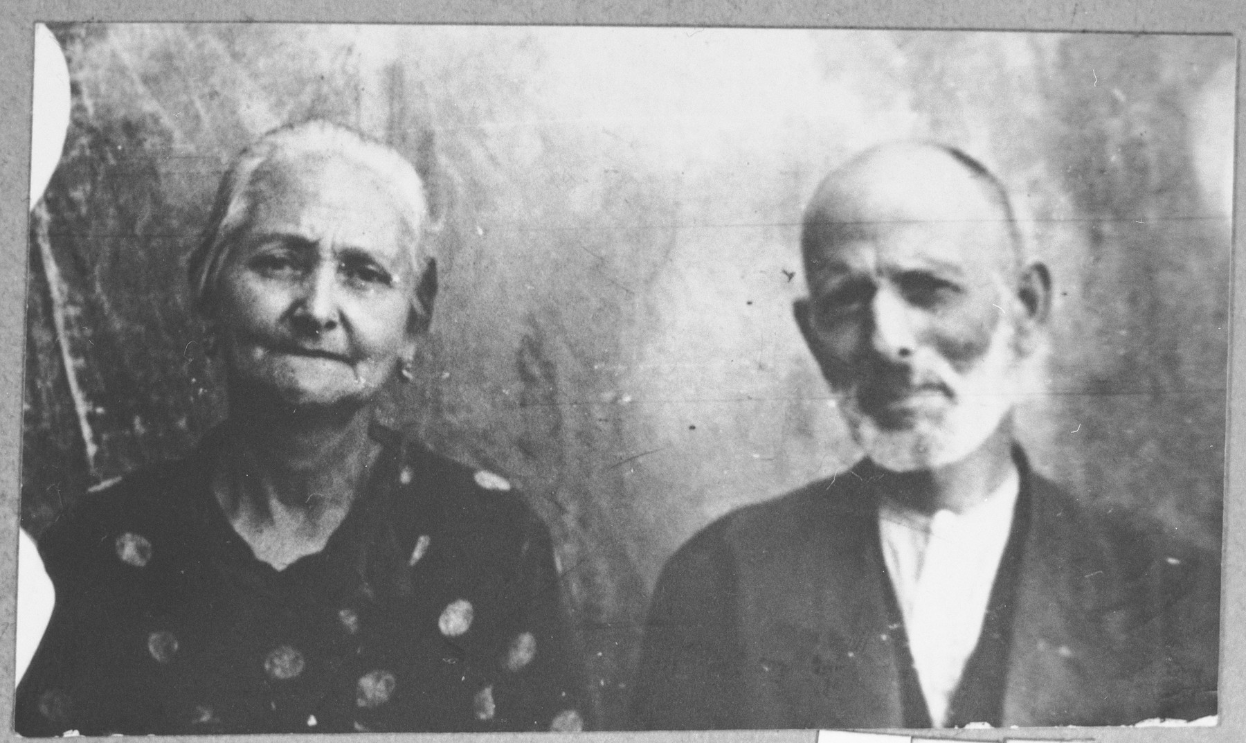 Portrait of Ovadia Kalderon and his wife, Lia.  They lived at Putnika 137 in Bitola.