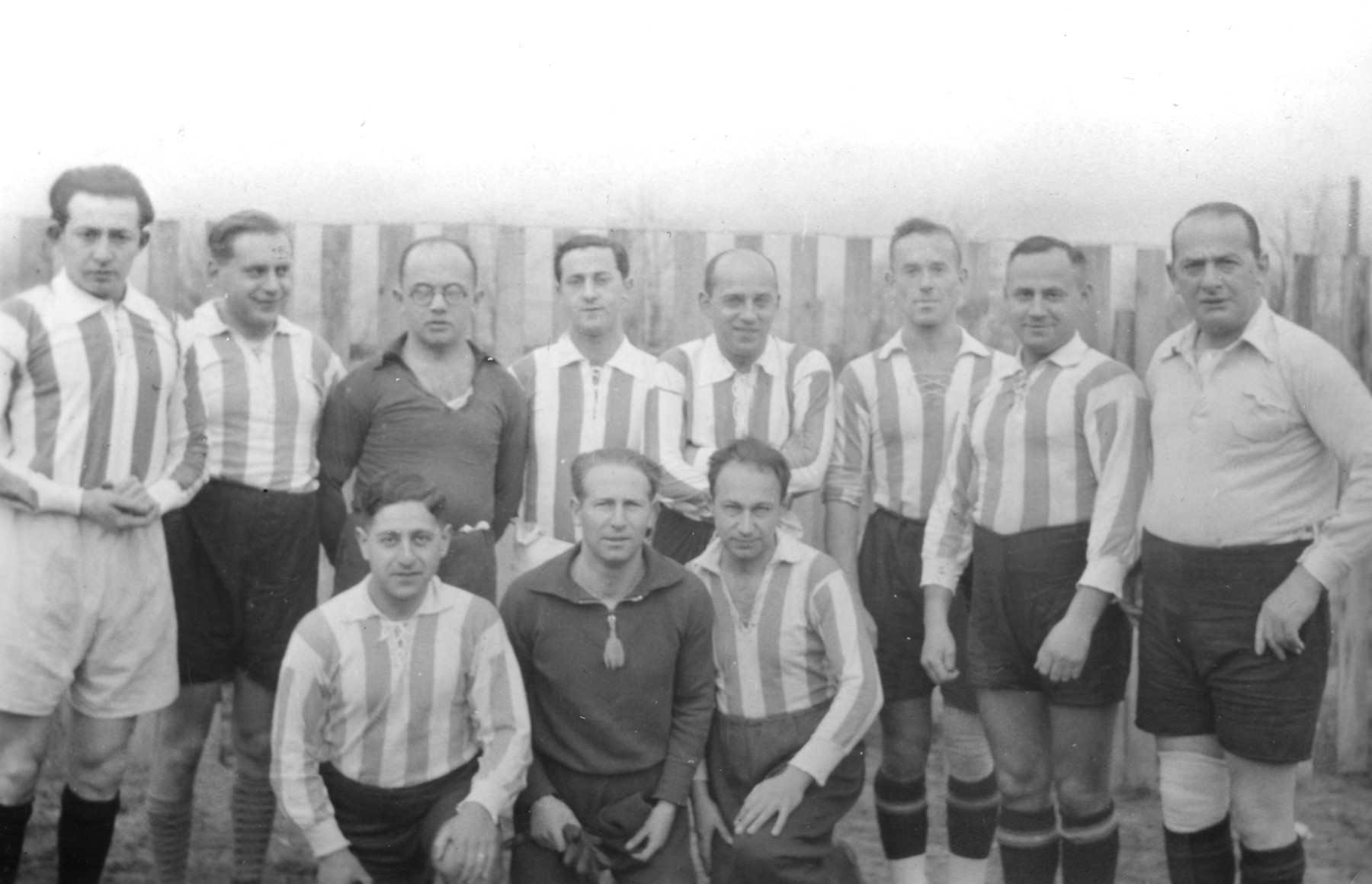 Members of the Bar Kochba soccer team of Breslau, Germany.  Among those pictured are Bruno Fuchs and Wilhelm Brauer.