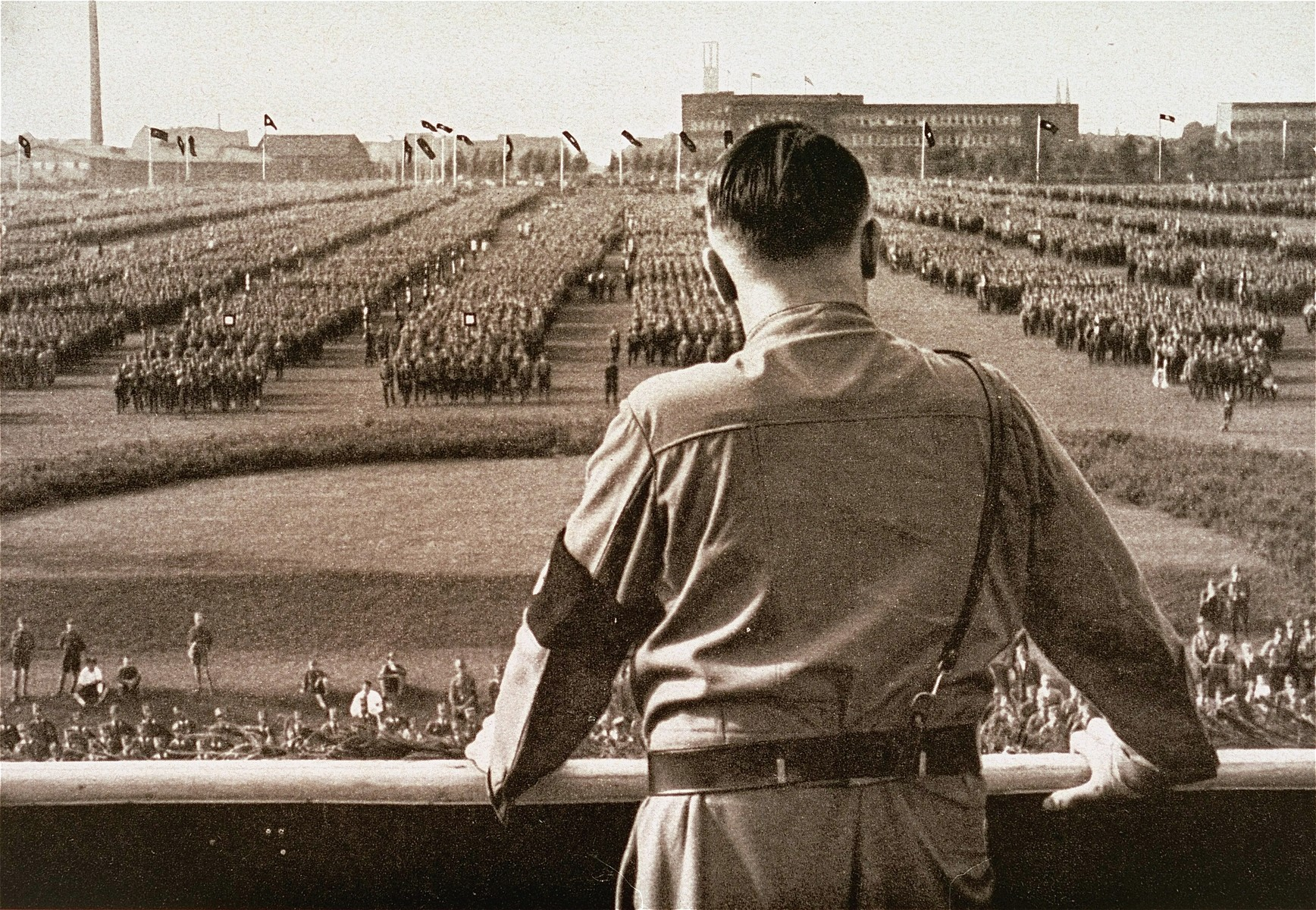 Adolf Hitler addresses a rally of the SA.