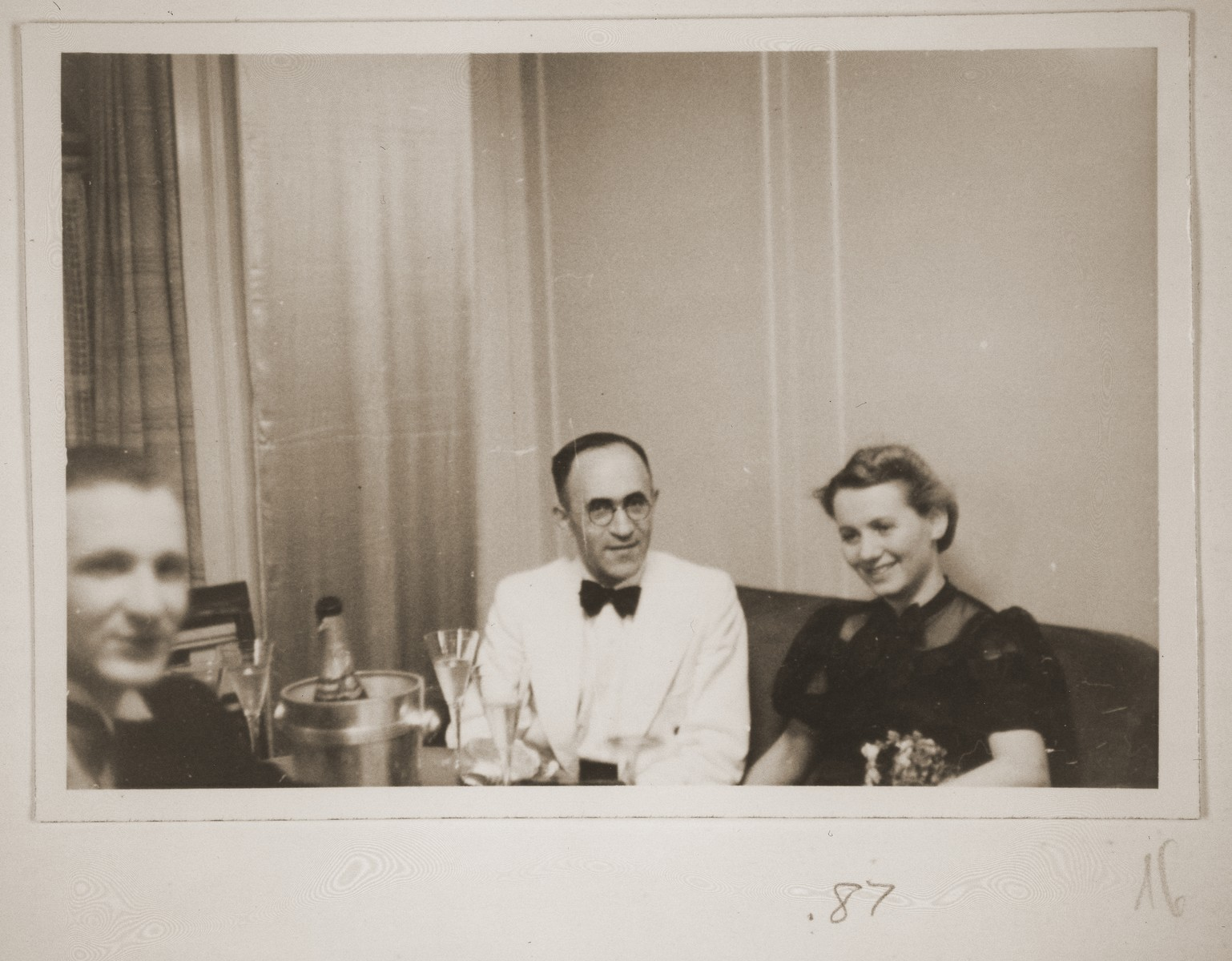 Ernst and Charlotte Vendig at a banquet on board the MS St. Louis.