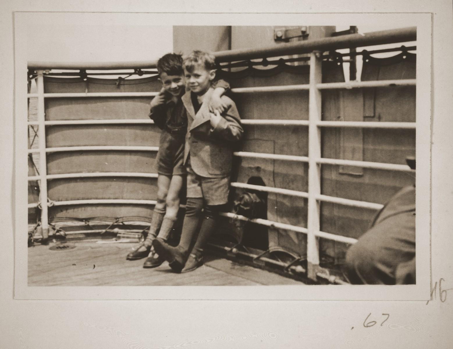 Fritz Vendig and his friend Gerd-Fritz Grunstein.